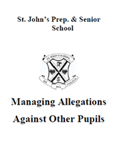 Managing Allegations Against Other Pupils Policy