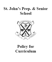Curriculum Policy