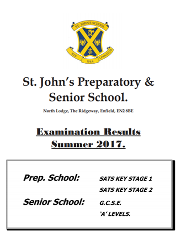 Examination Results Summer 2017