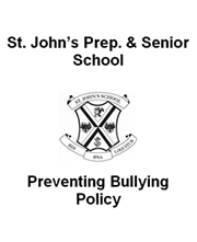 Preventing Bullying Policy