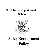 safer recruitment policy